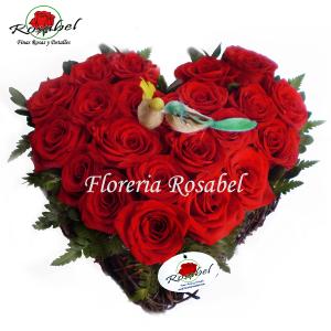 Corazon de Rosas Rojas Lima Cod.04