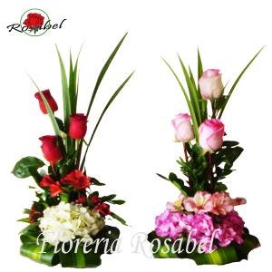 Arreglos Florales de tres Rosas