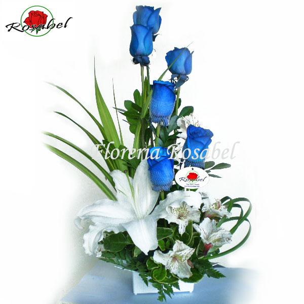 arreglos florales de rosas azules, envio a domicilio lima peru, delivery rosas azules a lima peru