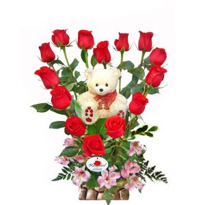 Arreglo Floral Te Amo Corazon, arreglos floral en forma de corazon,  corazon de rosas rojas,