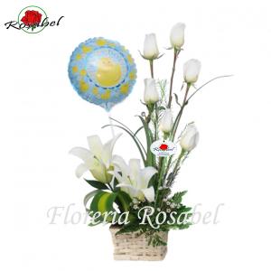 Arreglo Floral de Nacimiento Niño Cdo.02