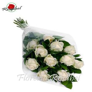 envío Ramo de 12 Rosas Blancas a domilicilio