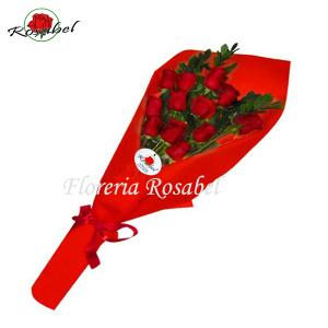 Ramo de 12 Rosas Rojas para regalar lima peru