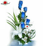 Blue roses floral arrangements, delivery to lima peru, delivery blue roses to lima peru
