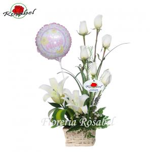 Arreglo floral Nacimiento Niña Cdo.01