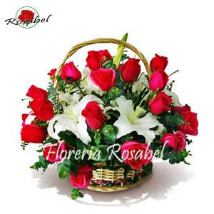 Canasta de Rosas Rojas Cdo 02