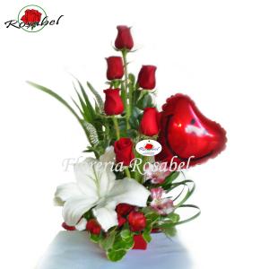 arreglos florales con rosas rojas, envio a lima peru