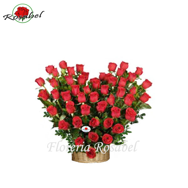 Arreglo Floral Corazon de 50 Rosas