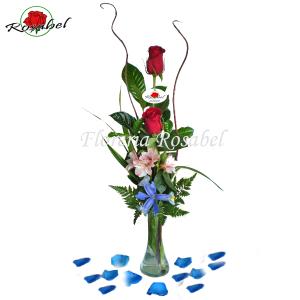 Florero con dos Rosas Cdo 02