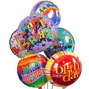 6 Globos de Feliz Cumpleaños