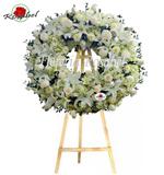 Coronas Florales, coronas florales para sepelios, funerarias, velorios y entierros en Lima Perú,