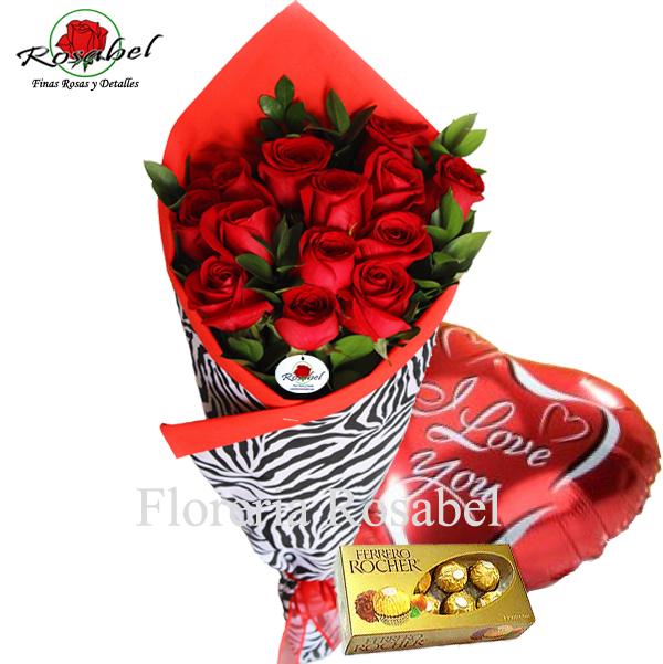 Ramo de Rosas Rojas,  envio rosas rojas lima peru