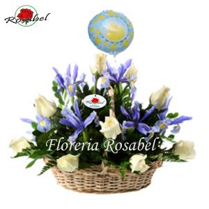 Canasta floral para niño 03