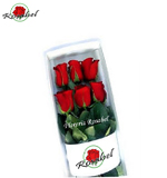 Box of 6 red roses, delivery in lima peru