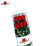 Caja de 6 rosas rojas para regalarar