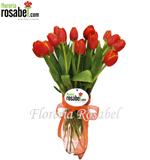 Florero de Tulipanes Naranjas, tulipanes naranjas