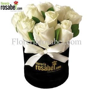 Box de Rosas Blancas, Caja con Rosas Blancas