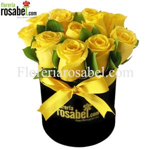 Box de Rosas Amarillas, Caja con Rosas Amarillas