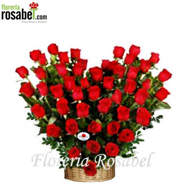 ✅Arreglos Florales de 50 Rosas rojas ✅