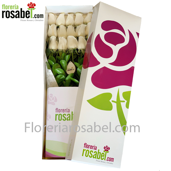 Box with white roses, delivery to Lima Peru